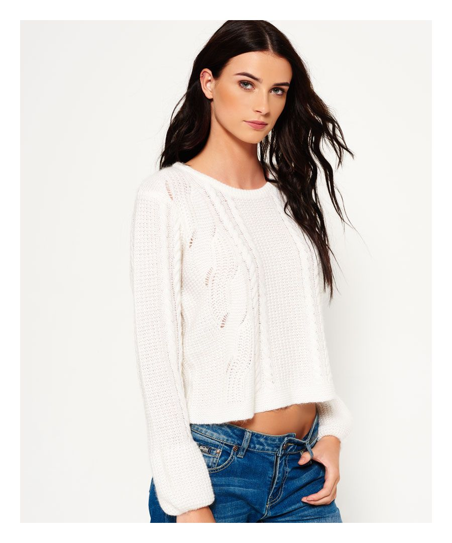 Image for Superdry Bell Sleeve Cable Knit Jumper