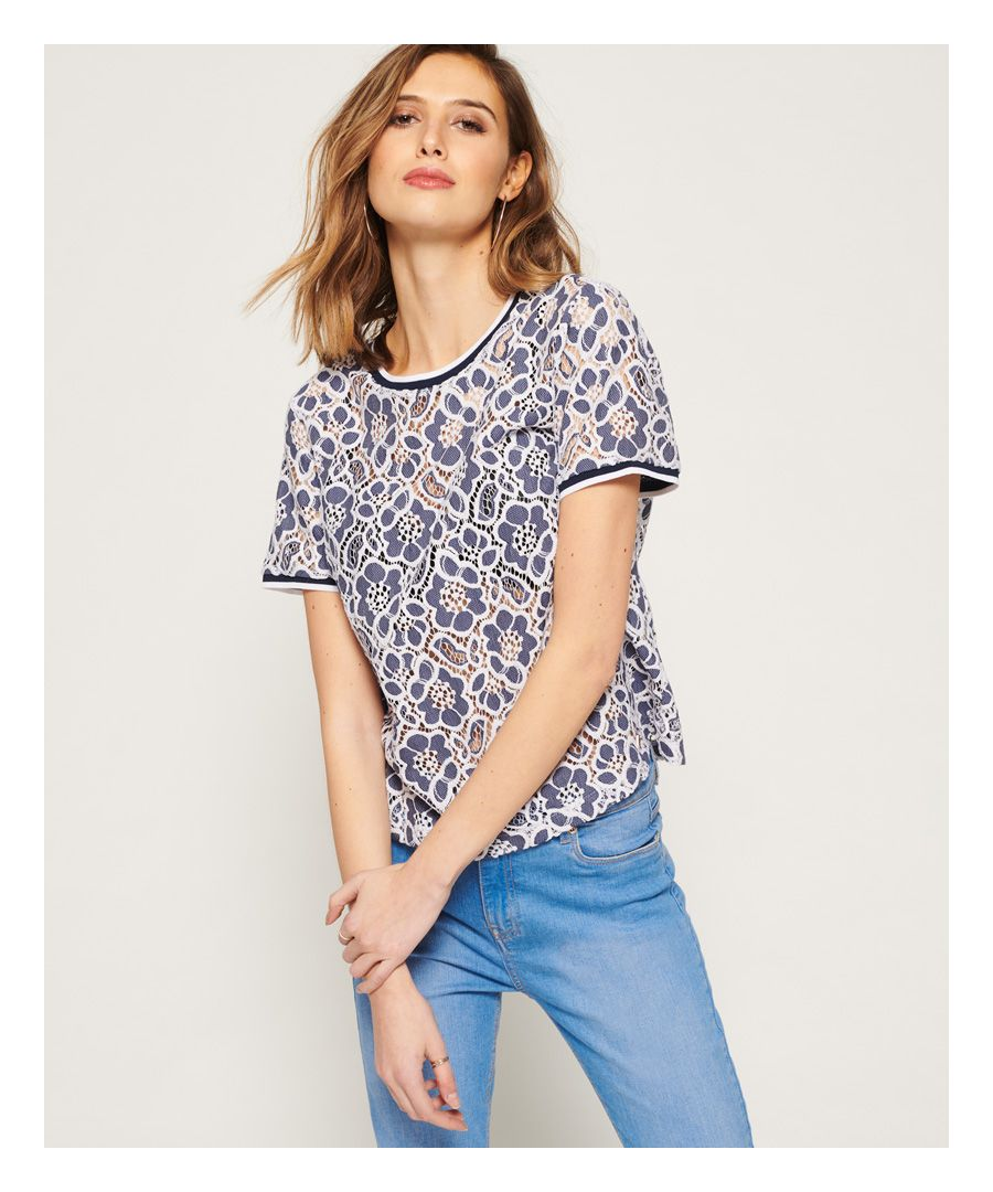Image for Superdry Tori All Over Lace Top
