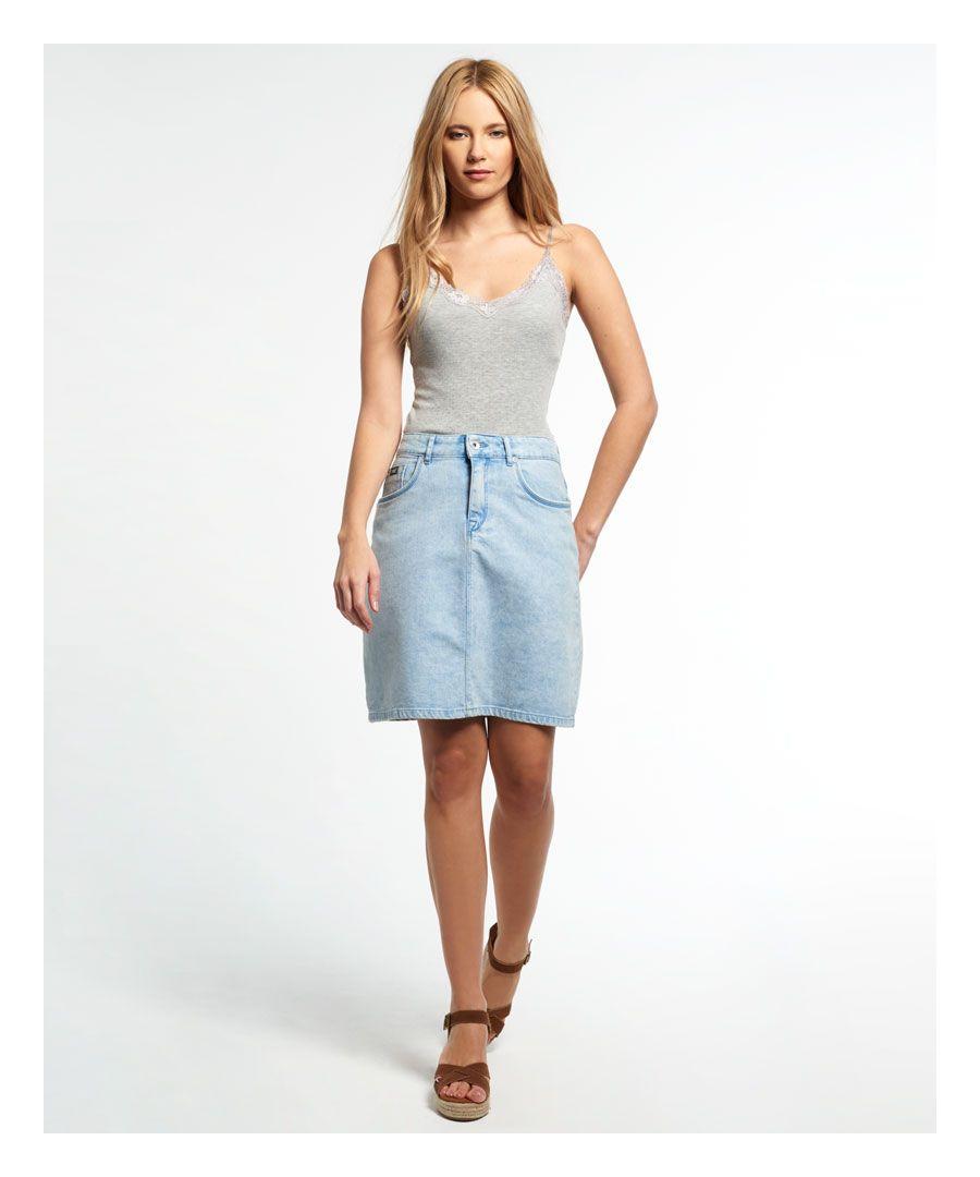 Image for Superdry A-Line Denim Skirt