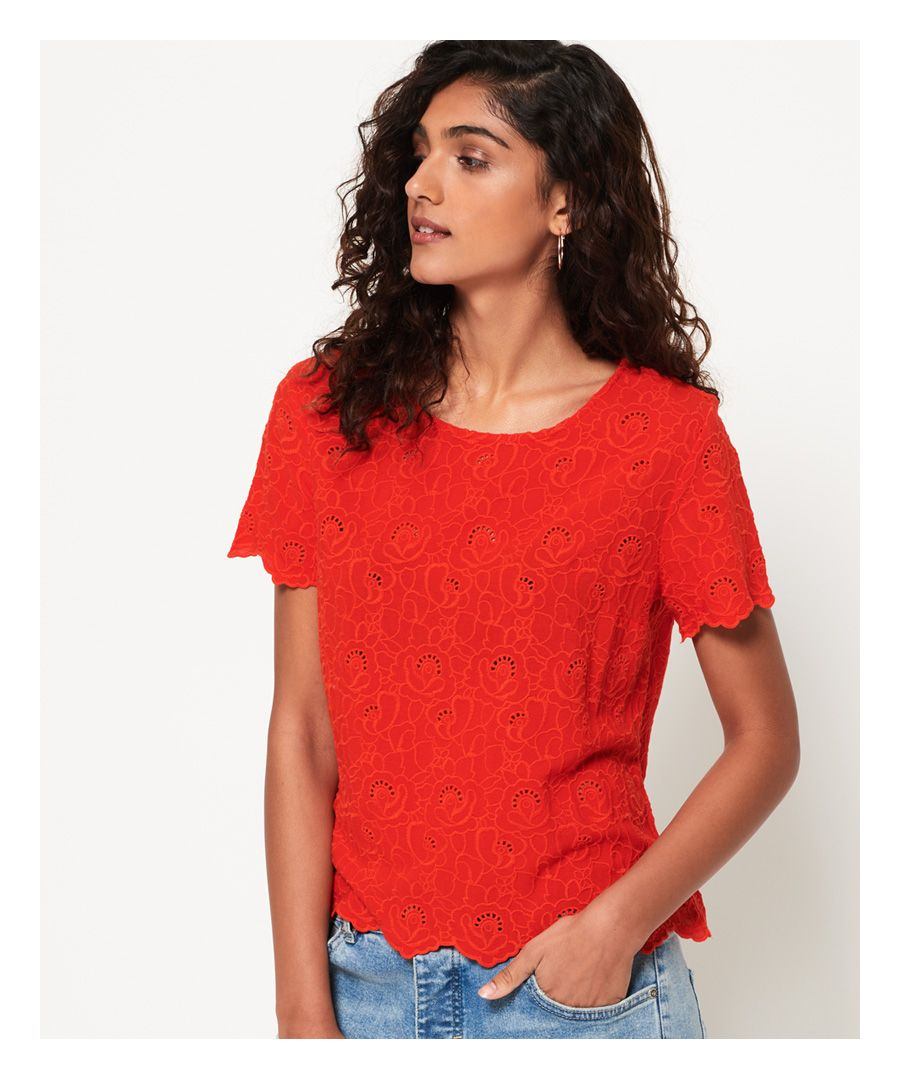 Image for Superdry Lilah Schiffli T-Shirt