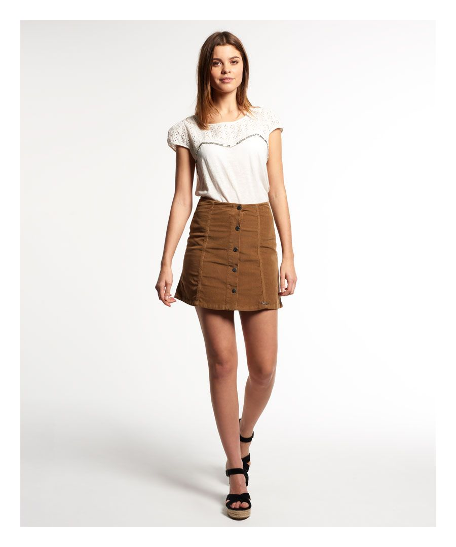 Image for Superdry Corduroy Button Through Skirt