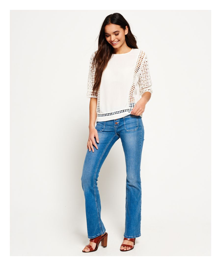 Image for Superdry Zadie Kick Flare Jeans