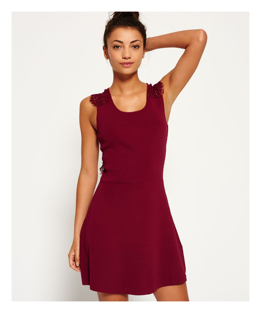 Image for Superdry Alina Lace Knitted Dress