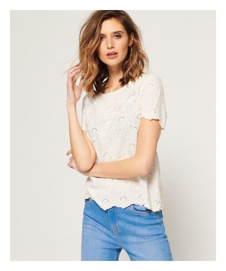 Image for Superdry Lilah Schiffli T-Shirt