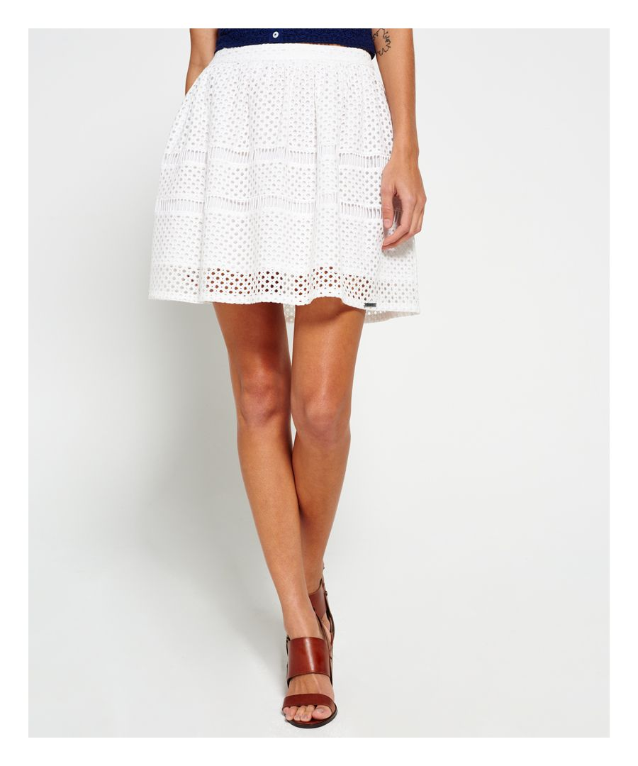 Image for Superdry Geo Lace Mix Skater Skirt