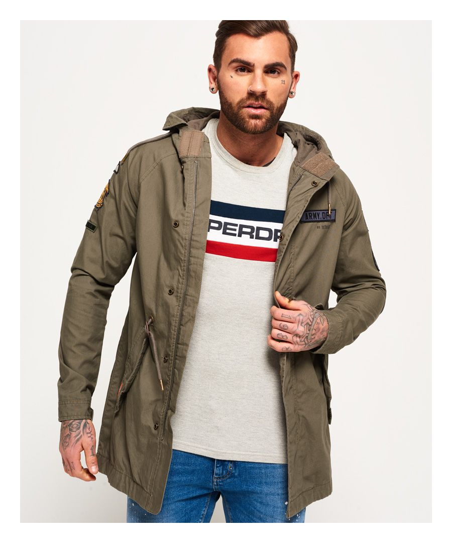 Image for Superdry Rookie Aviator Patched Parka Jacket