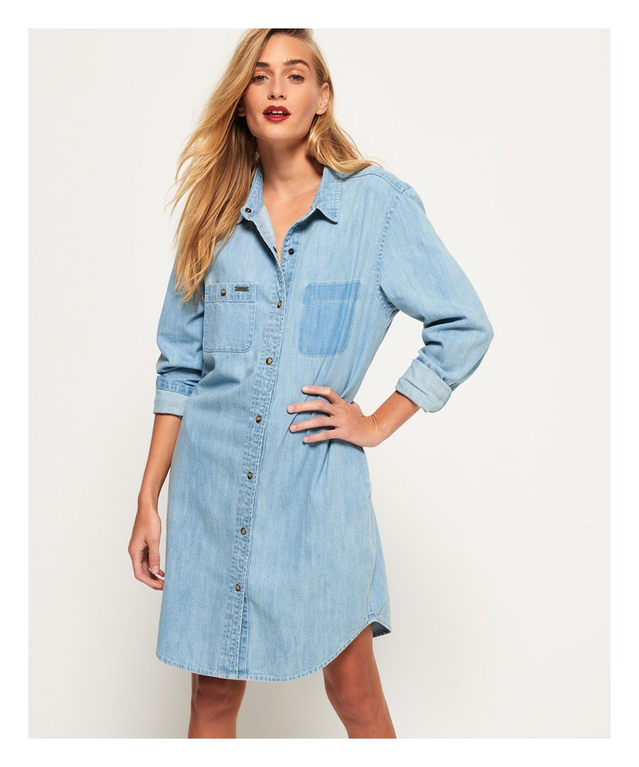 Image for Superdry Oversized Denim Shirt Dress