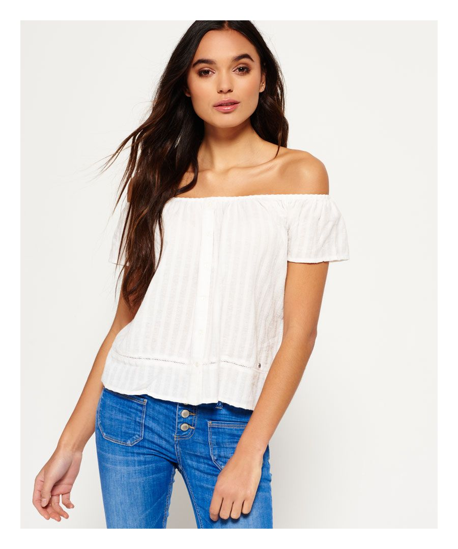 Image for Superdry Marina Bardot Button Top