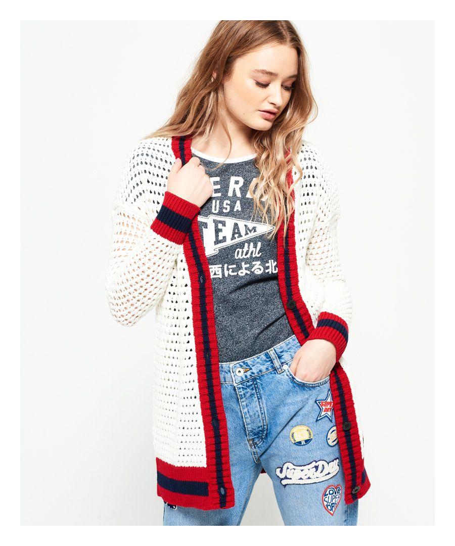 Image for Superdry Varsity Spirit Crochet Cardigan