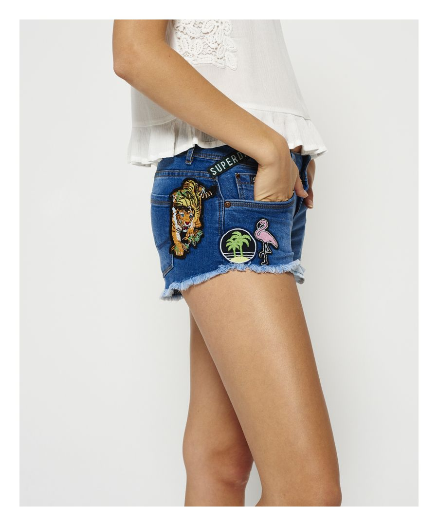 Image for Superdry Patches Denim Hot Shorts