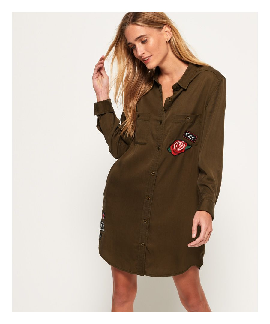 Image for Superdry Oversized Lyocell Shirt Dress