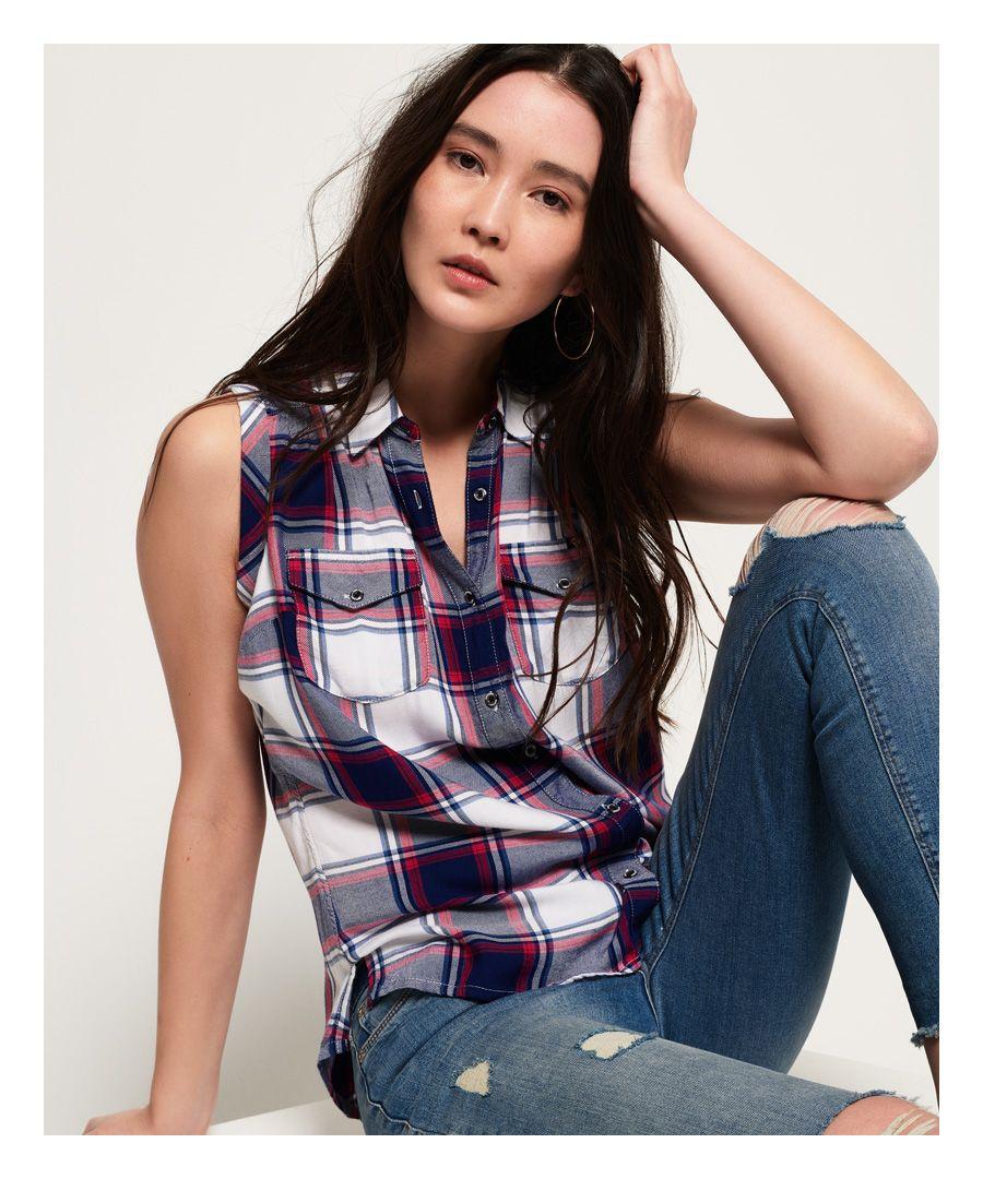 Image for Superdry Sleeveless Boyfriend Shirt