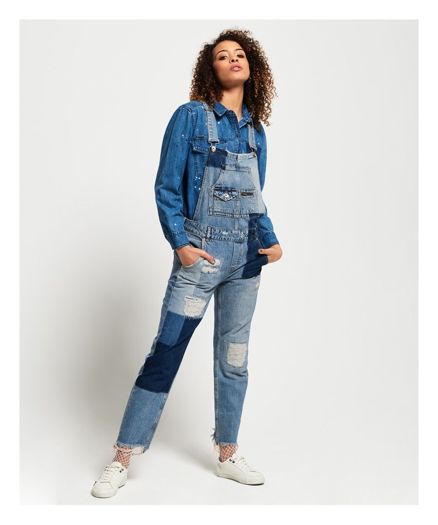 Image for Superdry Jodiee Boyfriend Dungarees
