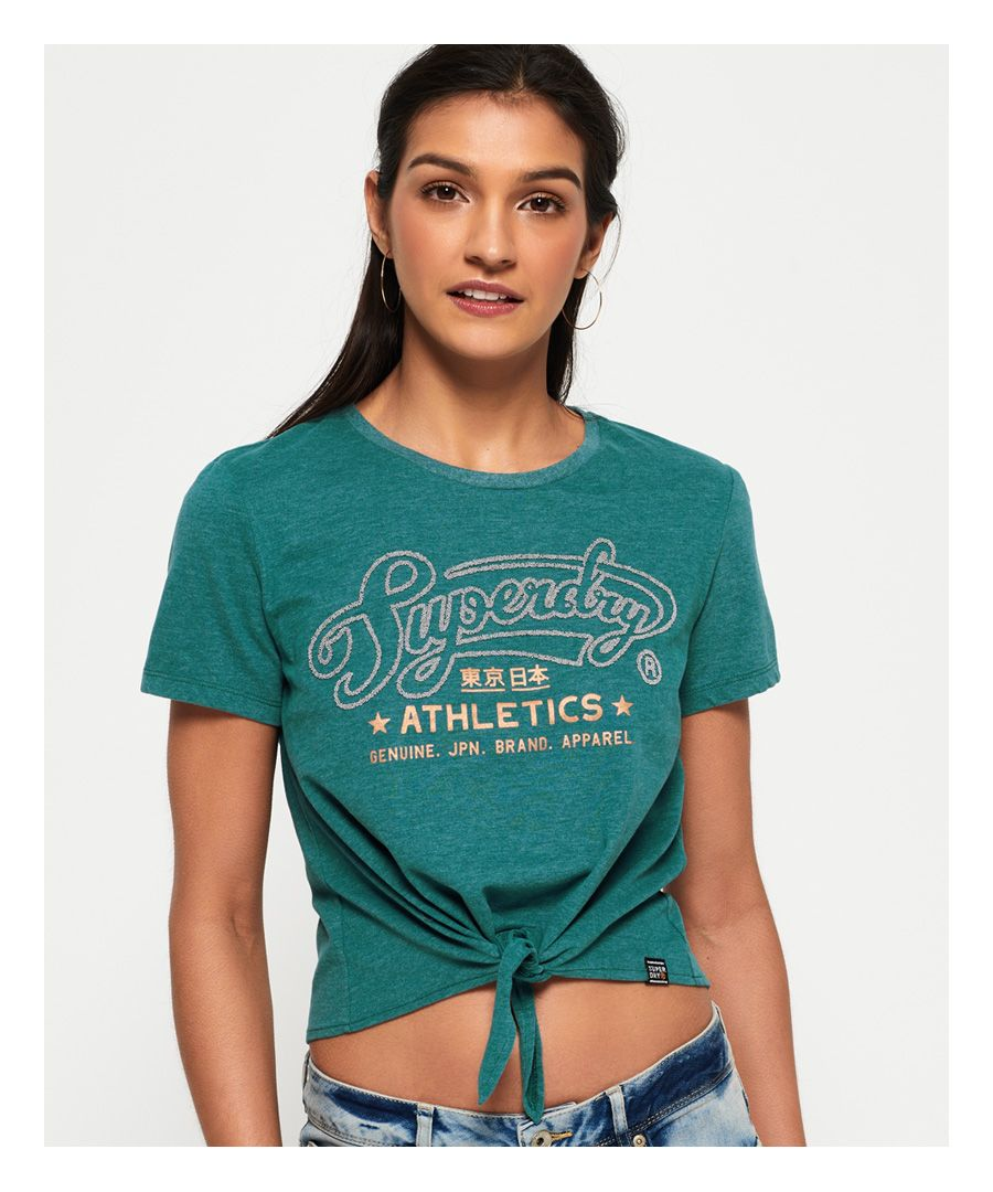 Image for Superdry Athletics Knot Front T-Shirt