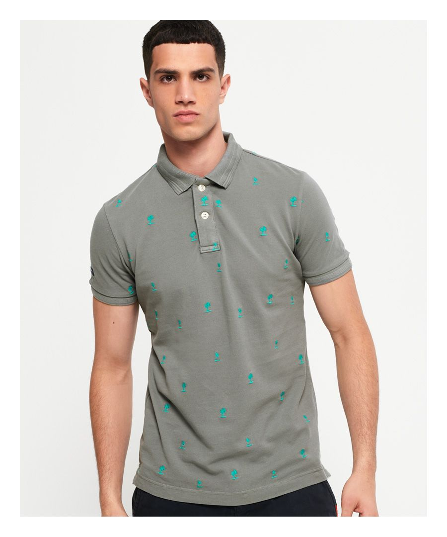 Image for Superdry Classic Bermuda All Over Print Pique Polo Shirt