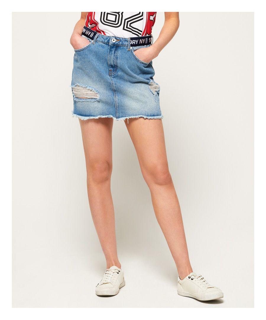 Image for Superdry Denim Micro Mini Tape Skirt