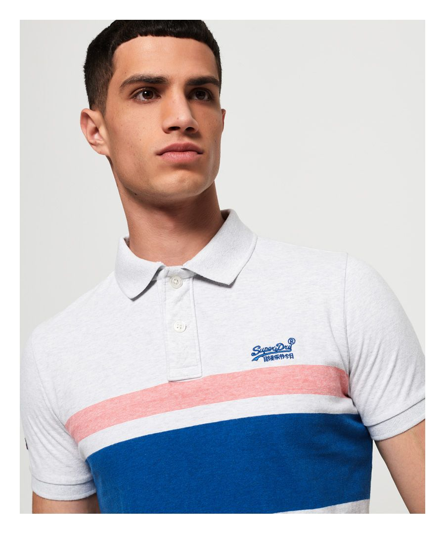 Image for Superdry Classic Hardwick Stripe Polo Shirt