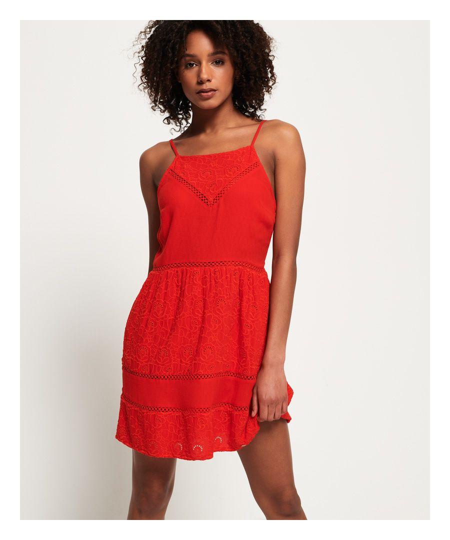 Image for Superdry Lilah Schiffli Dress