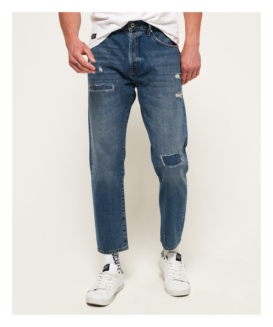Image for Superdry Oversized Taper Jeans