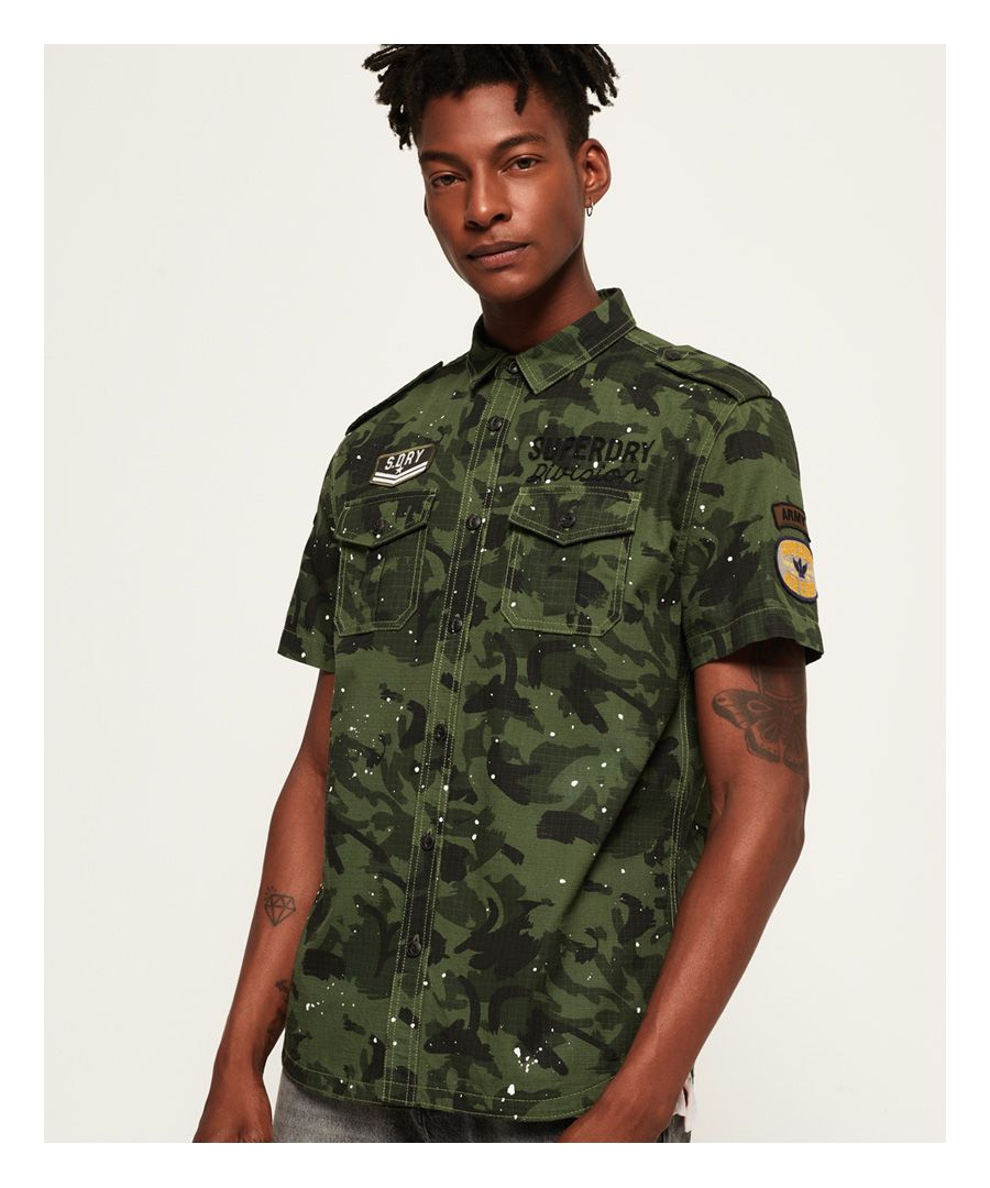 Image for Superdry Army Tropics Short Sleeve Shirt