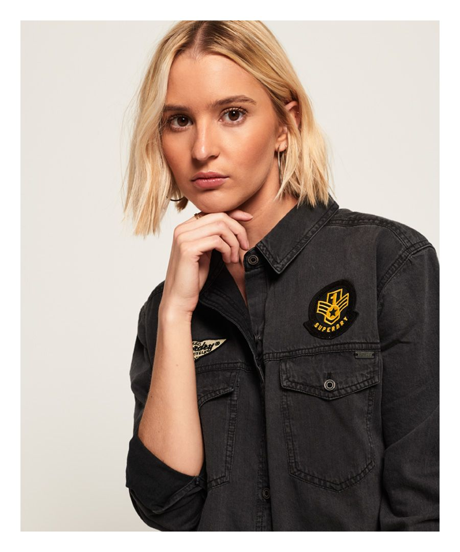 Image for Superdry Oversized Denim Shirt