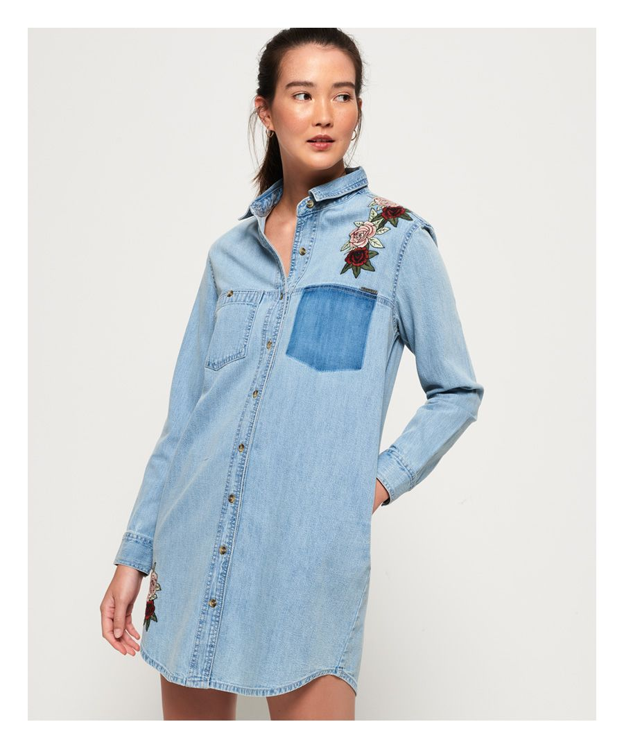 Image for Superdry Oversized Denim Shirt Dress