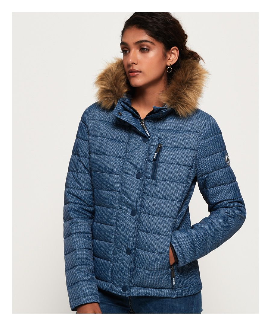 Image for Superdry Fuji Slim Double Zip Hooded Jacket