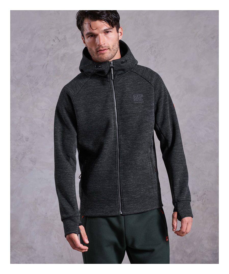 Image for Superdry Gym Tech Pique Zip Hoodie