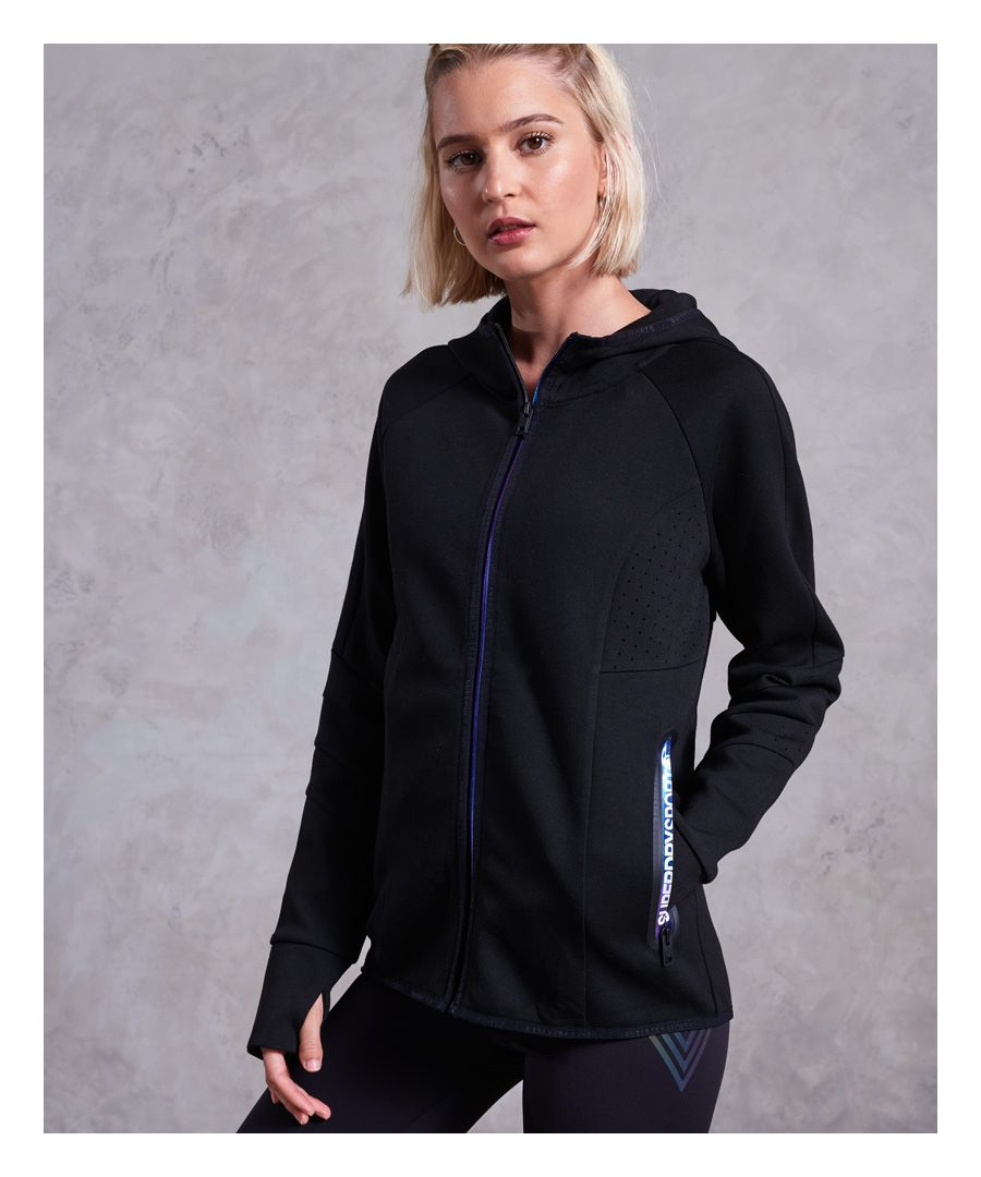 Image for Superdry Core Gym Tech Panel Zip Hoodie