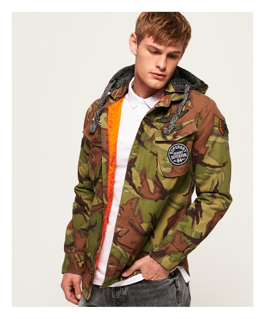 Image for Superdry Military Storm Hooded Jacket