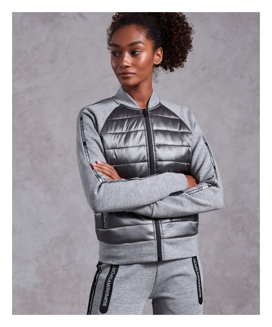 Image for Superdry Core Gym Tech Hybrid Bomber Jacket