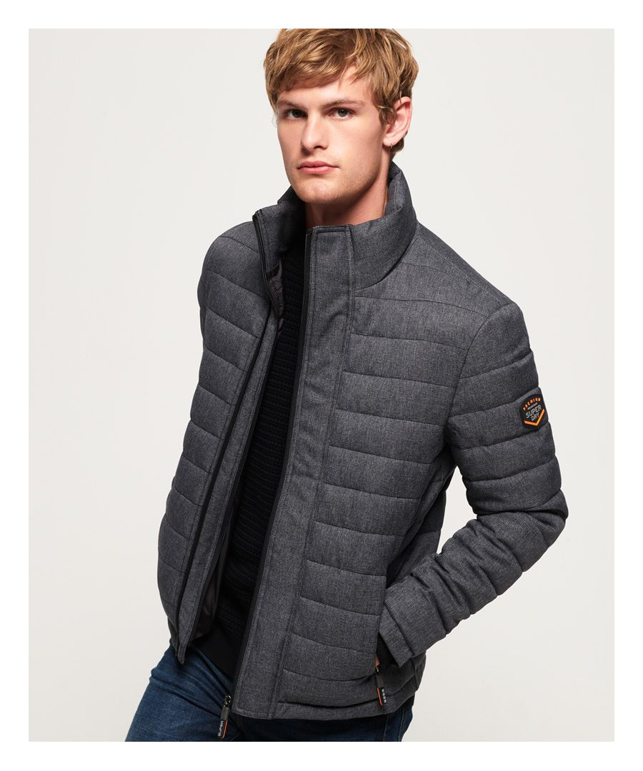 Image for Superdry Tweed Double Zip Fuji Jacket