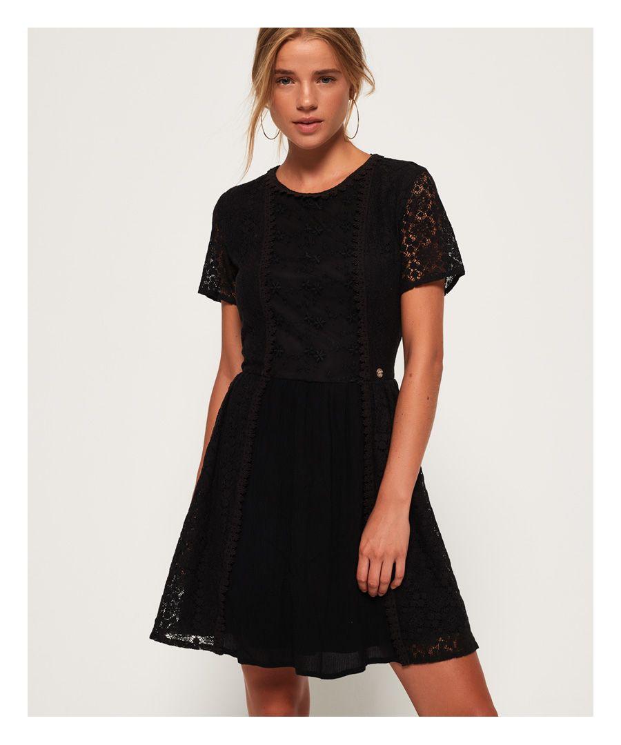 Image for Superdry Ella Lace Panelling Dress