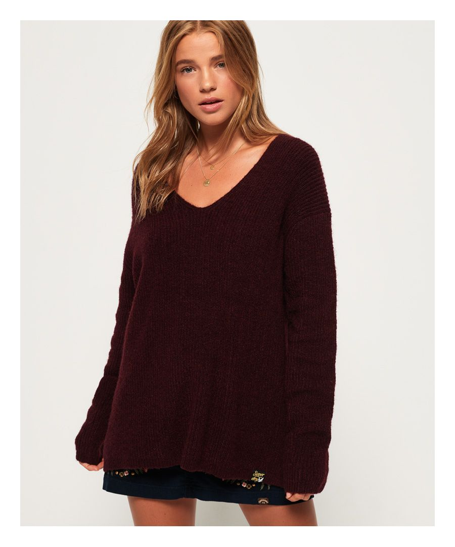 Image for Superdry Peyton Ribbed Vee Jumper