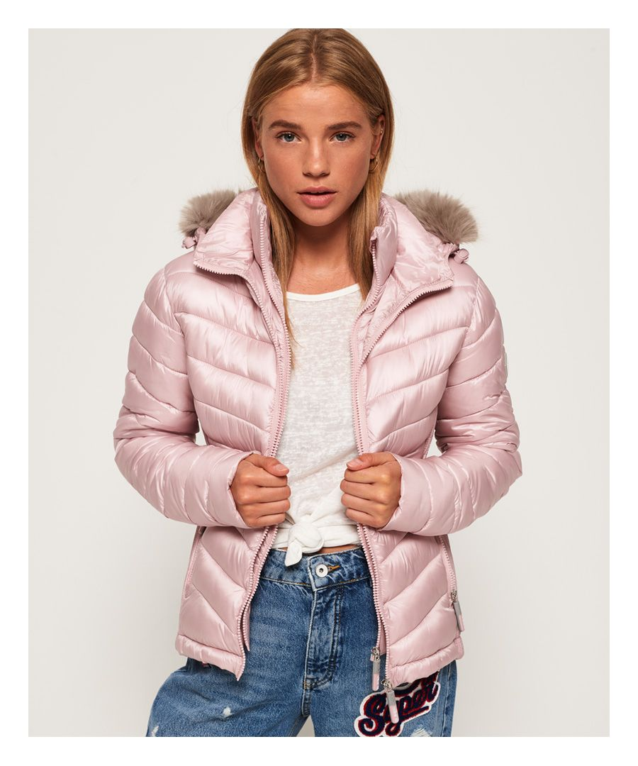 Image for Superdry Hooded Luxe Chevron Fuji Jacket