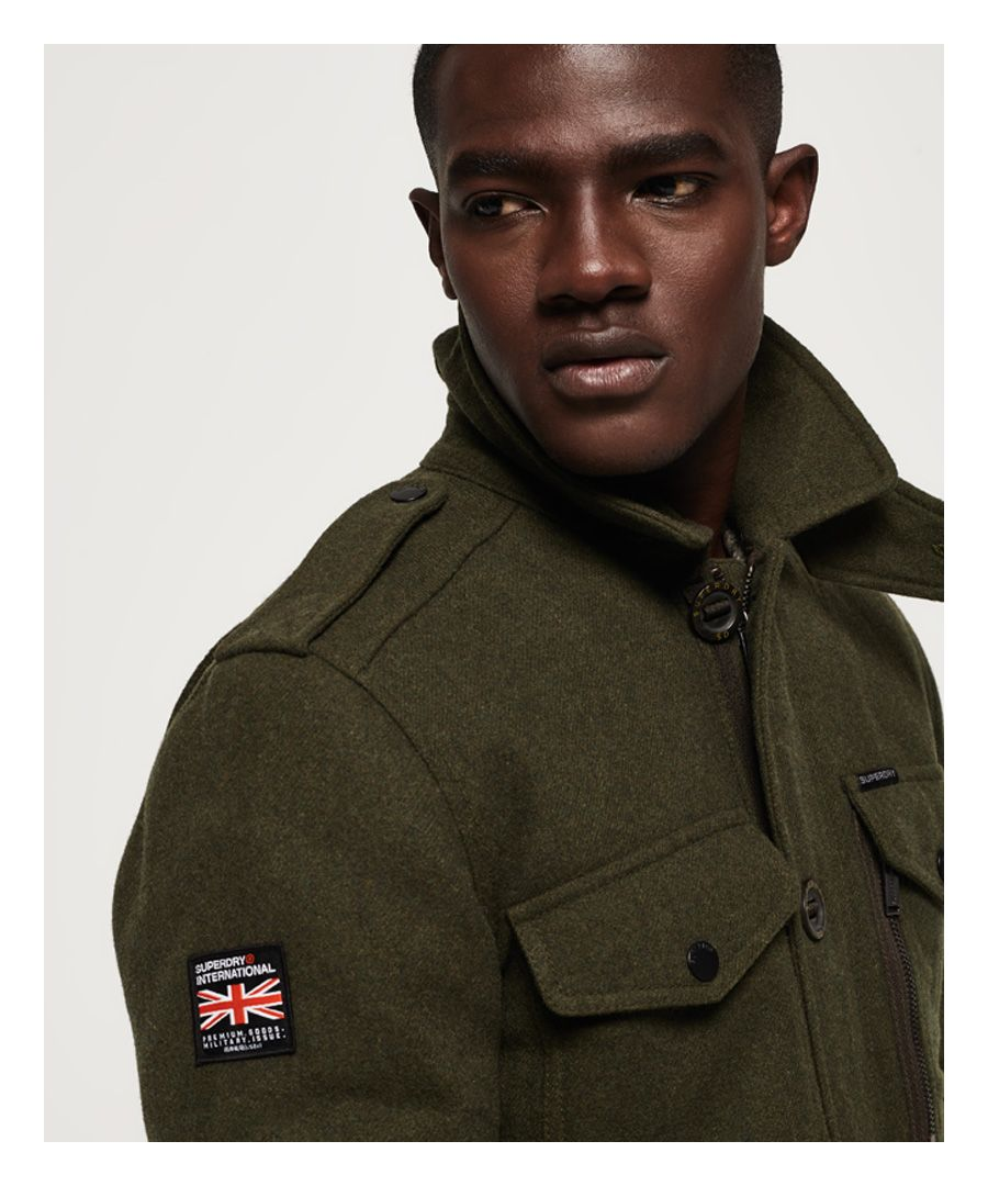Image for Superdry Tito Four Pocket Wool Jacket