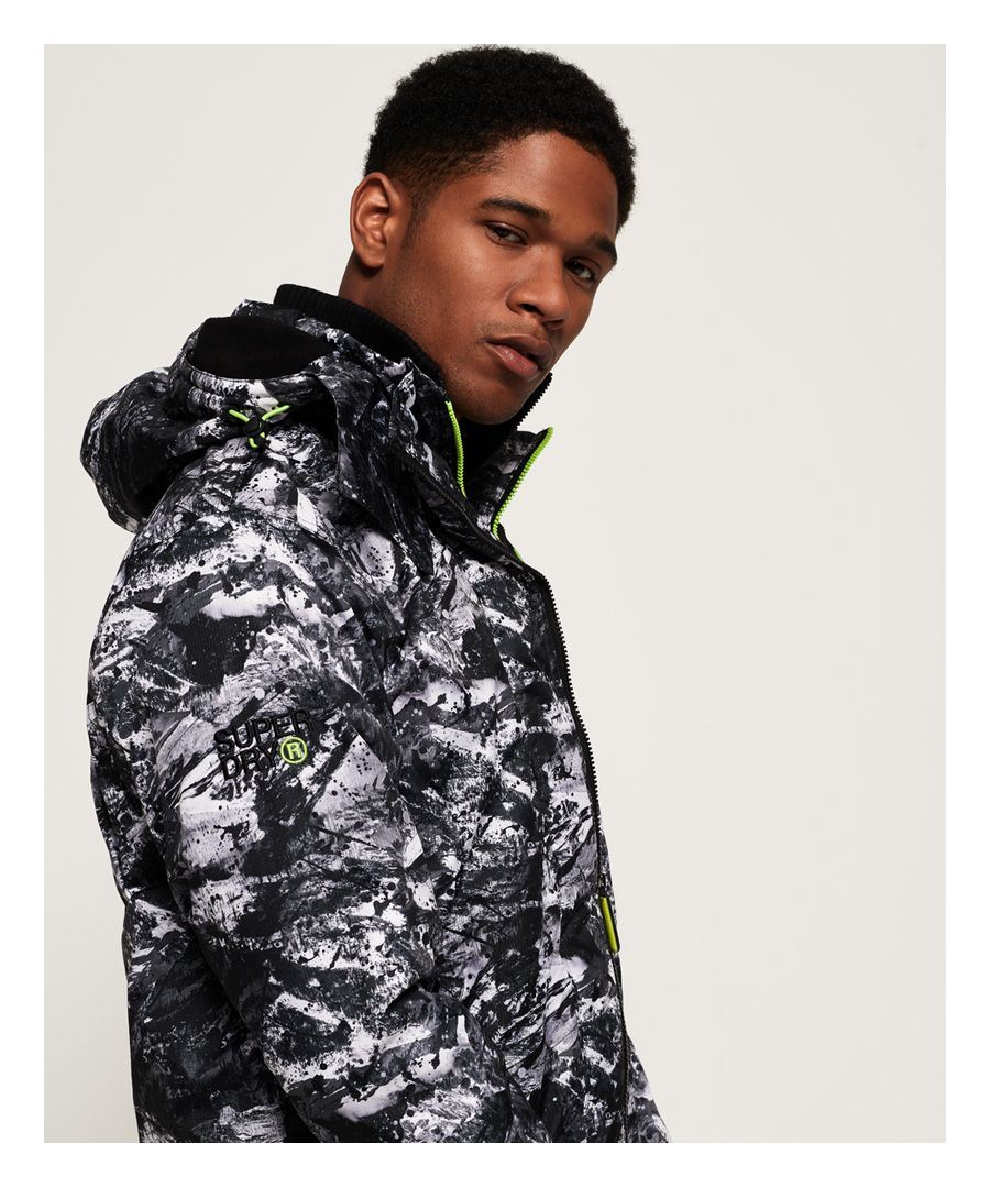 Image for Superdry Arctic Hooded Print Pop Zip SD-Windcheater Jacket