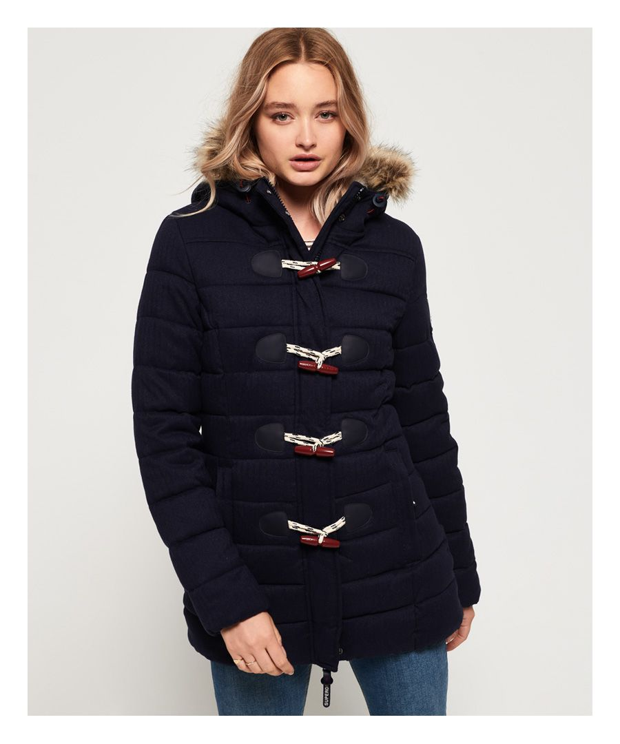 Image for Superdry Tall Marl Toggle Puffle Jacket