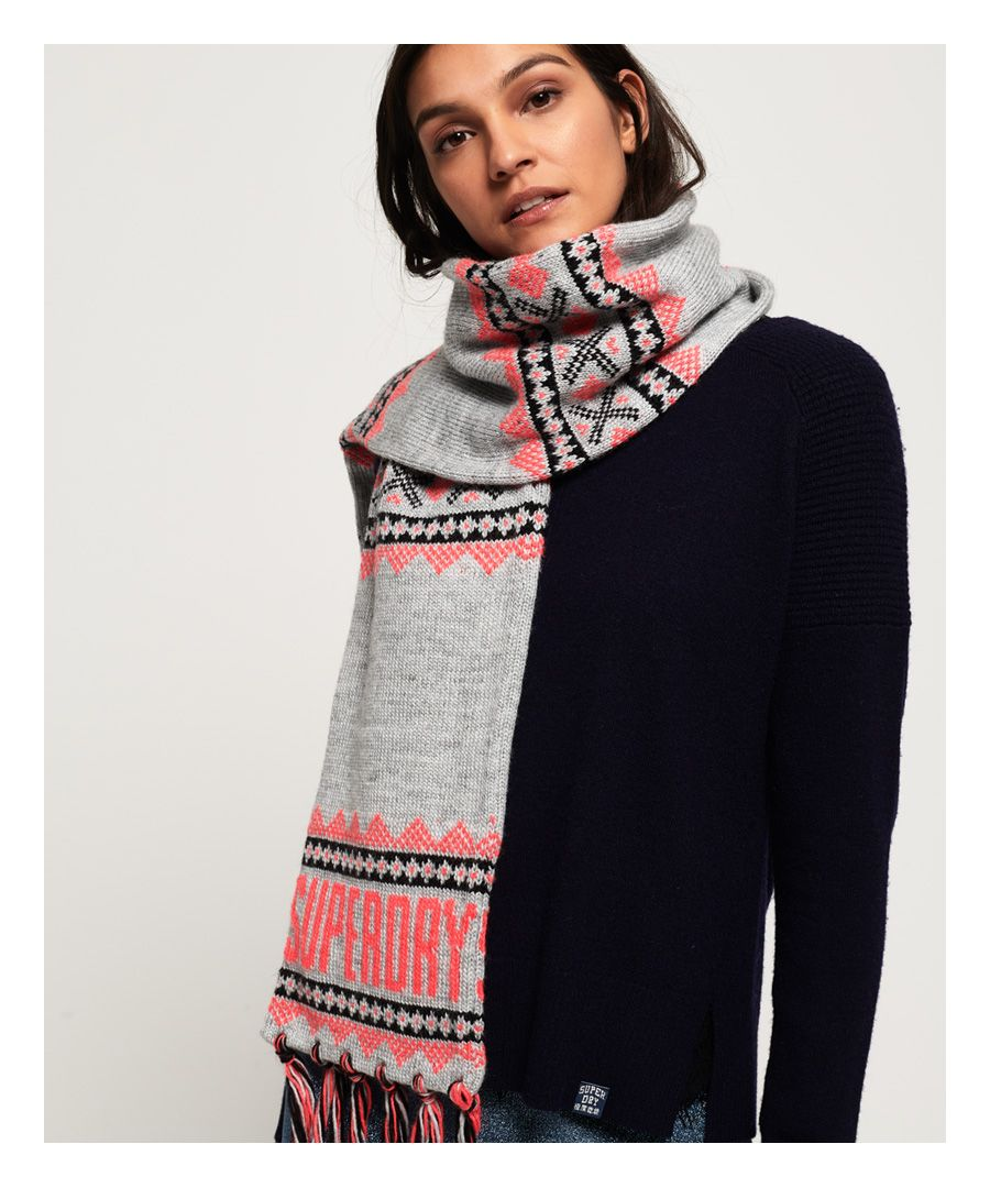Image for Superdry Jenna Fairisle Scarf