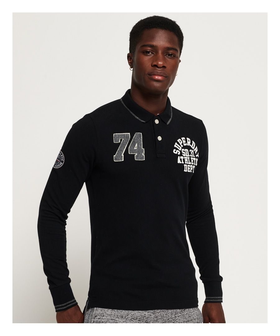 Image for Superdry Classic Superstate Long Sleeve Polo Shirt