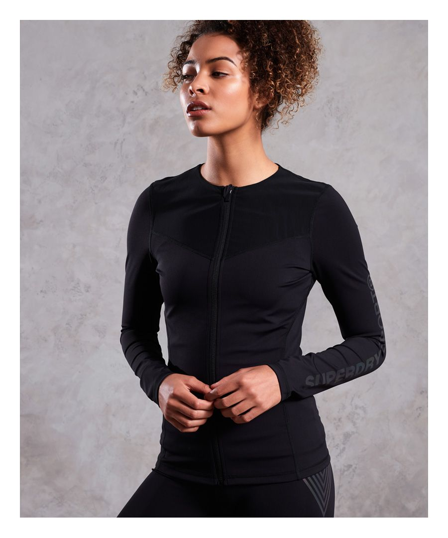 Image for Superdry Performance Zip Through Top
