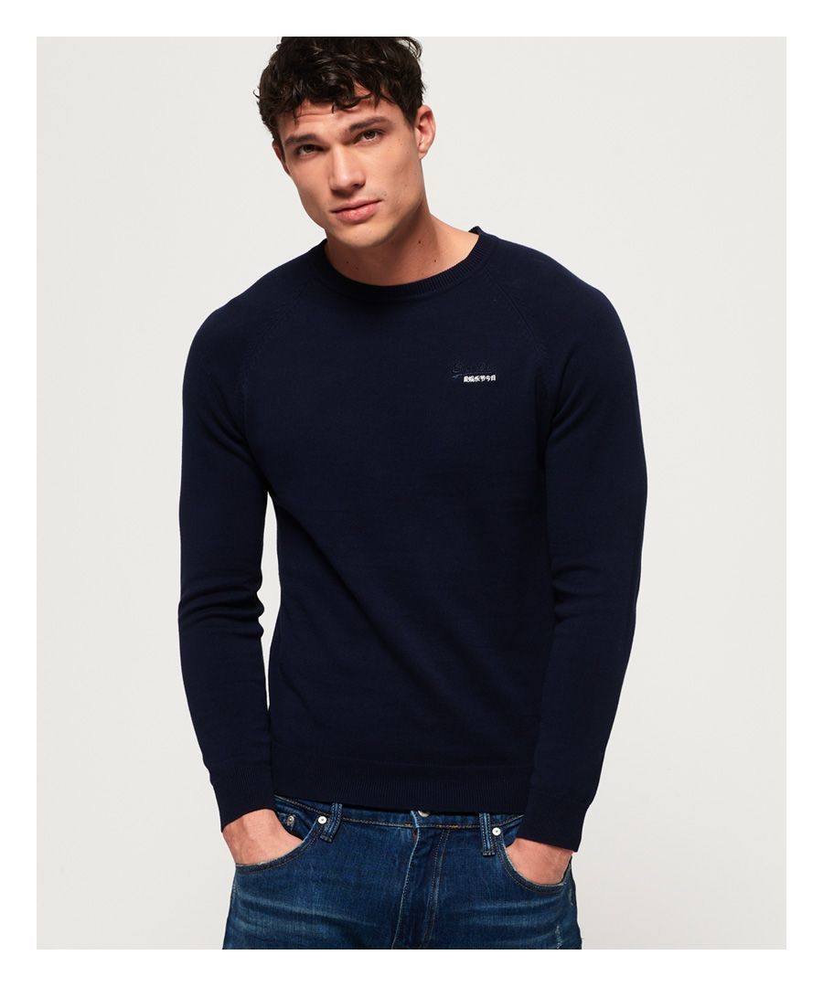 Image for Superdry Orange Label Cotton Crew Neck Jumper