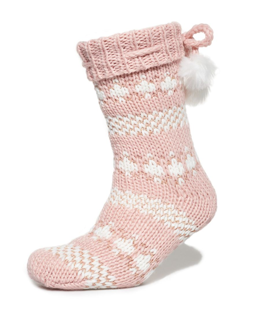 Image for Superdry Sparkle Fairisle Slipper Socks