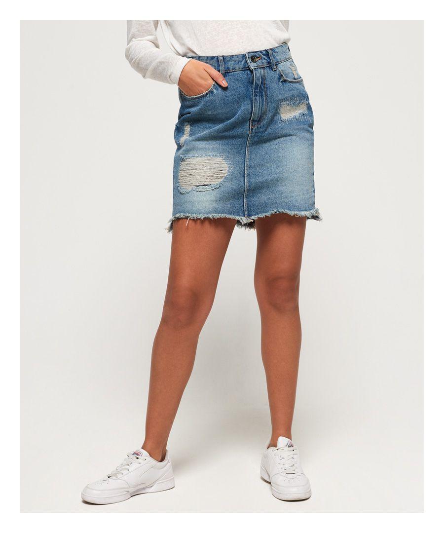 Image for Superdry Denim Mini Skirt
