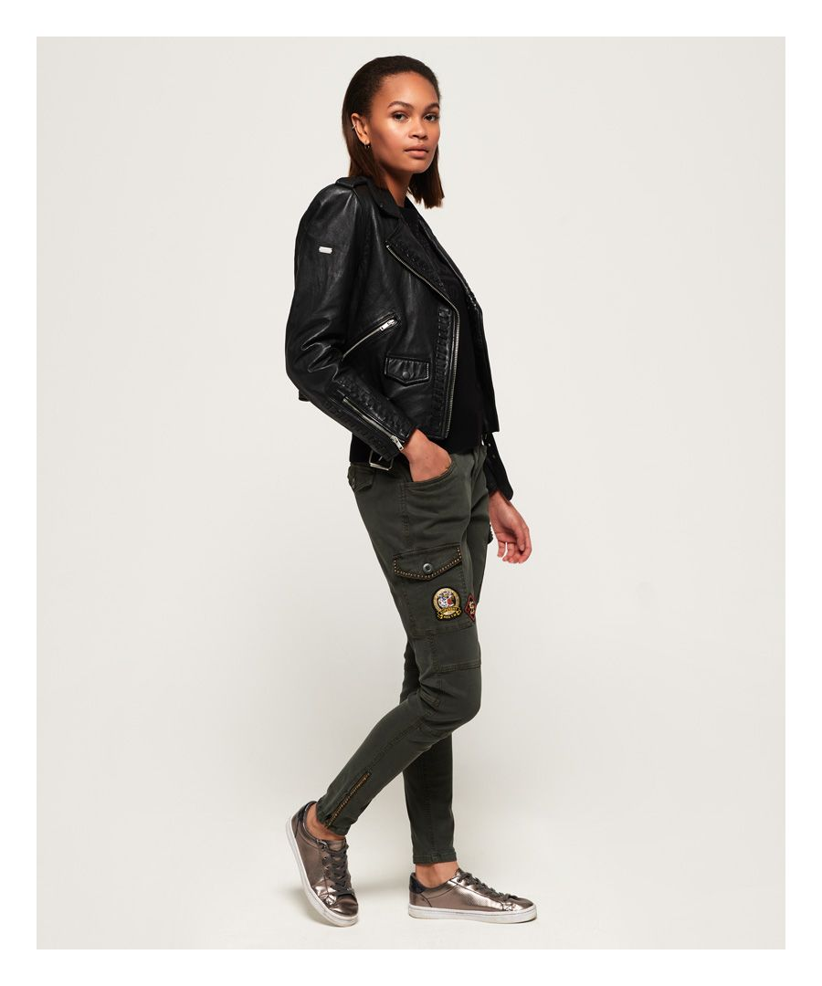 Image for Superdry Cargo Stud Skinny Jeans