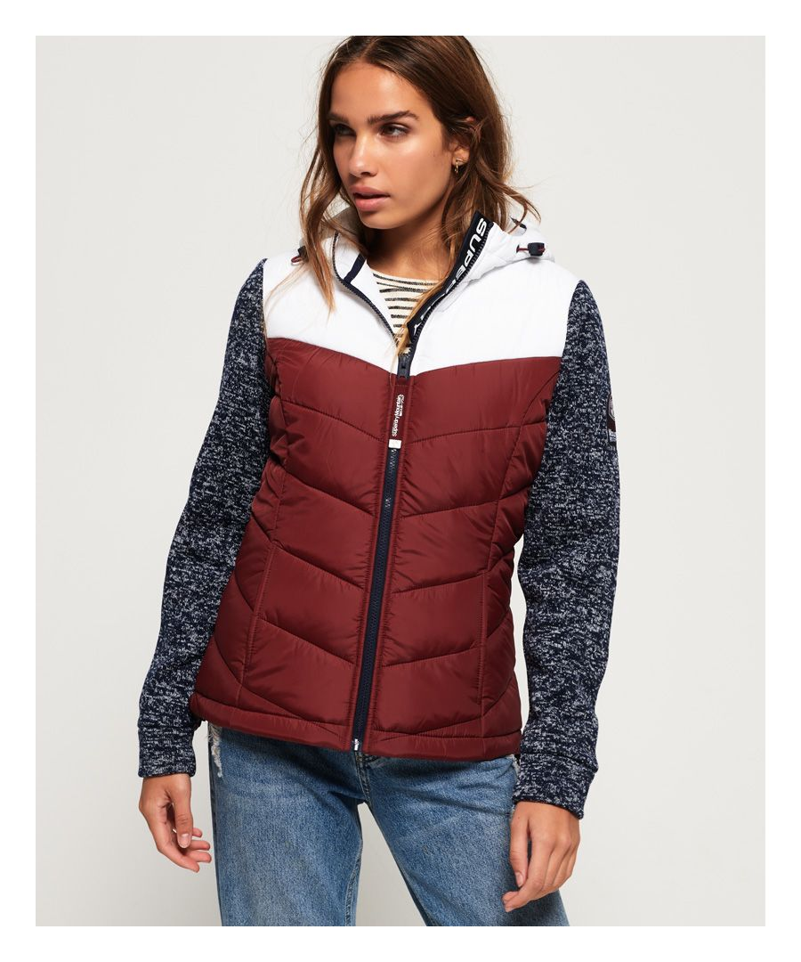 Image for Superdry Storm Hybrid Colour Block Zip Hoodie