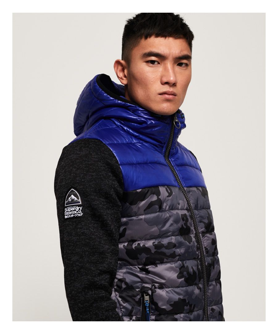 Image for Superdry Storm Hybrid Camo Block Zip Hoodie