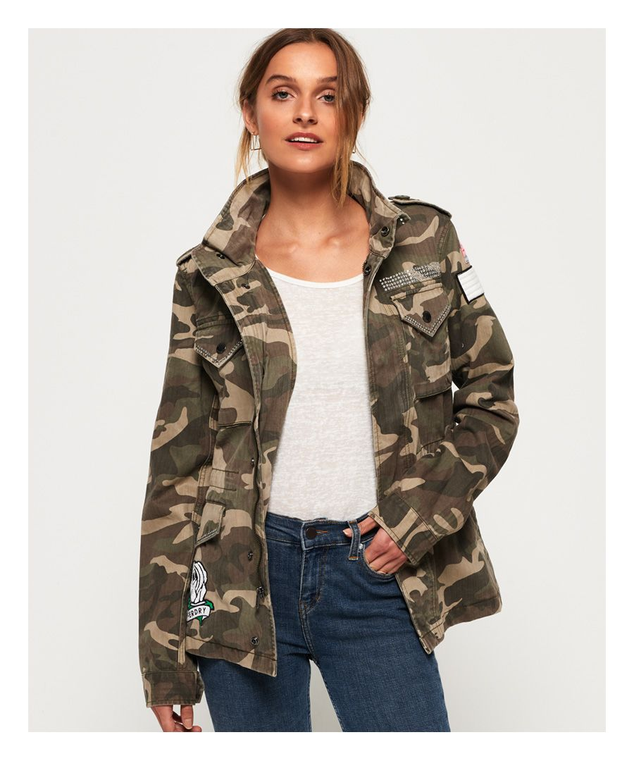 Image for Superdry Rookie Embellished Military Jacket
