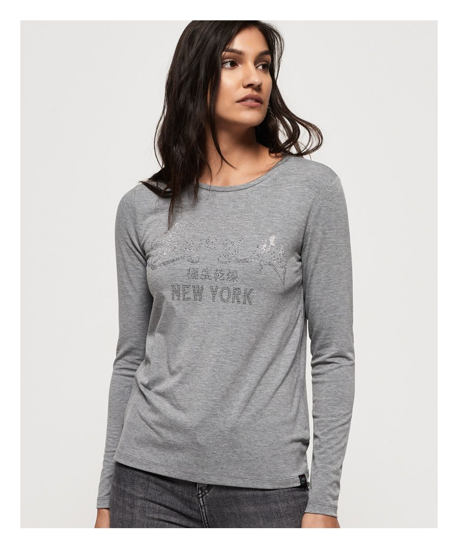 Image for Superdry Alessia Rhinestud Top