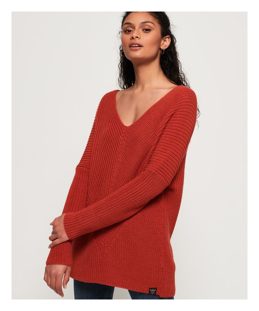 Image for Superdry Cora Ribbed Vee Jumper
